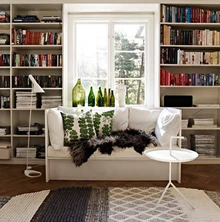 More light gives a space depth. If you're worried about privacy, roman shades or blinds instead of curtains look less crowded.