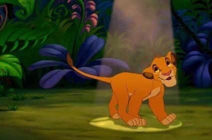 "Simba (and Timon and Pumba) sing ""Hakuna Matata"""