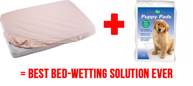 And finally... this solution will SAVE YOUR LIFE (and your beds) during the potty-training phase.