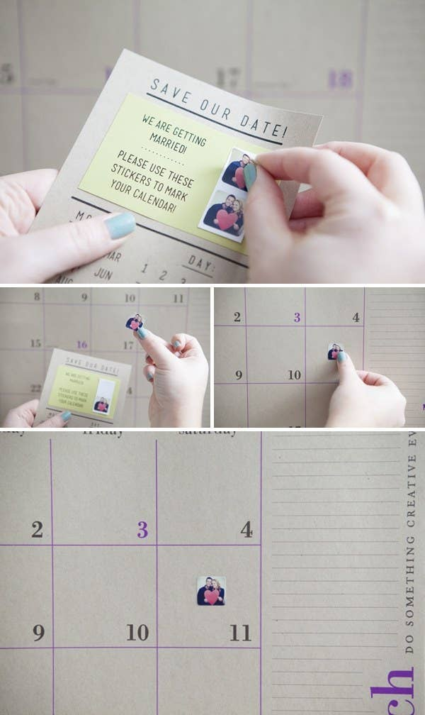 Who doesn't love stickers? This is the most foolproof (and fun!) way to get your guests to mark their calendars.