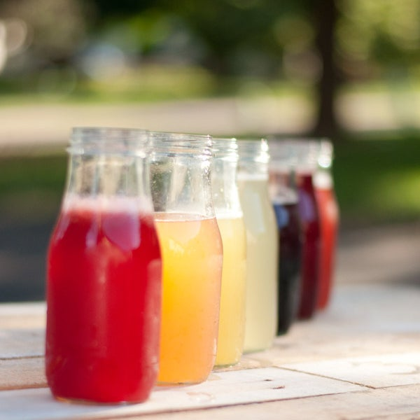 Fruit-infused simple syrups. DIrections here.