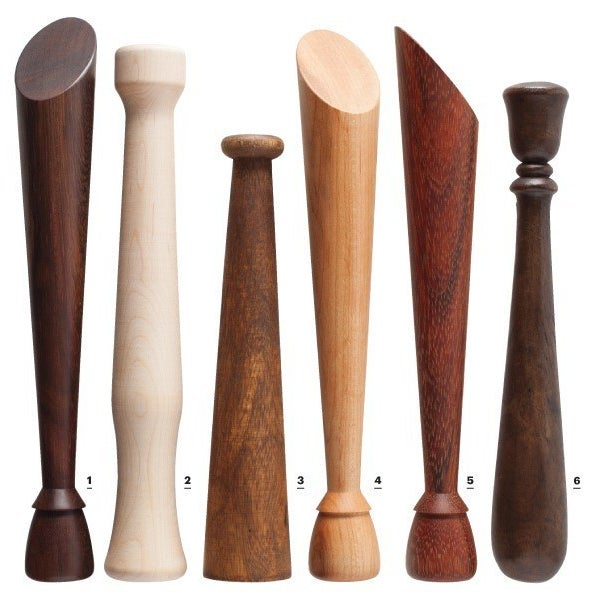 Muddlers are essential for Mojito making; check out this guide to pretty wooden ones.