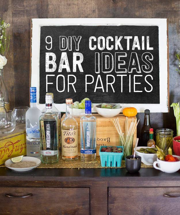 9 Ways To Set Up A DIY Drink Bar And Blow Your Friends\' Minds