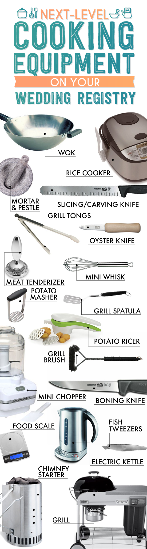the essential wedding registry list for your kitchen share on facebook share