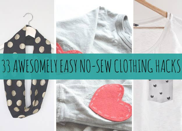 41 awesomely easy no sew diy clothing hacks share on facebook solutioingenieria Choice Image