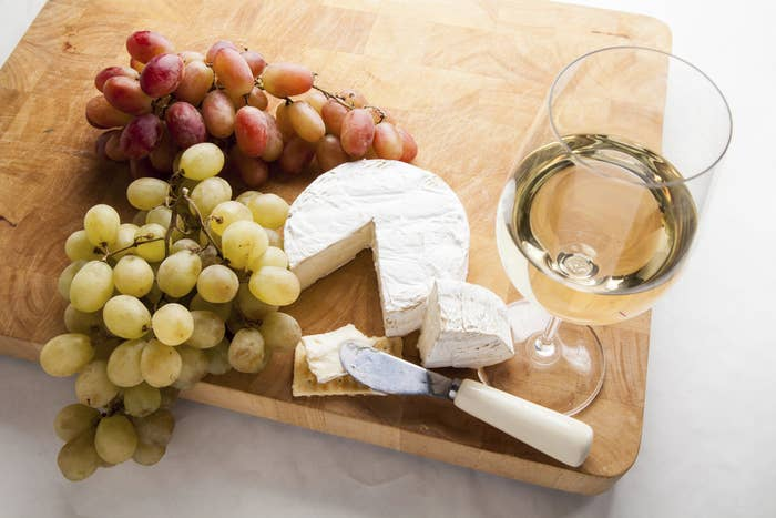 Pair goat cheeses with white wine, especially Sauvignon Blanc. More info here.