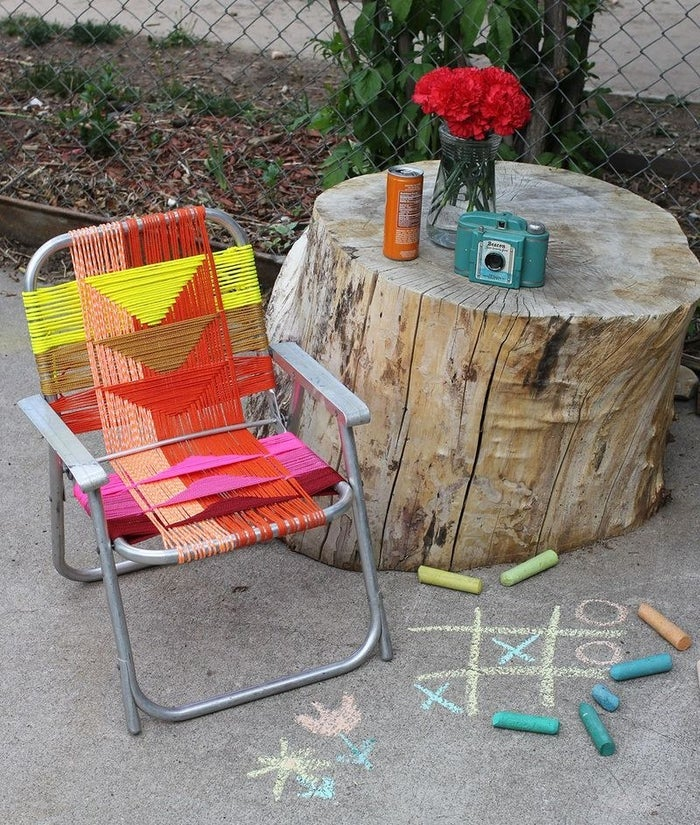 You can use this tutorial to easily makeover lawn furniture you already have. Check it out here.