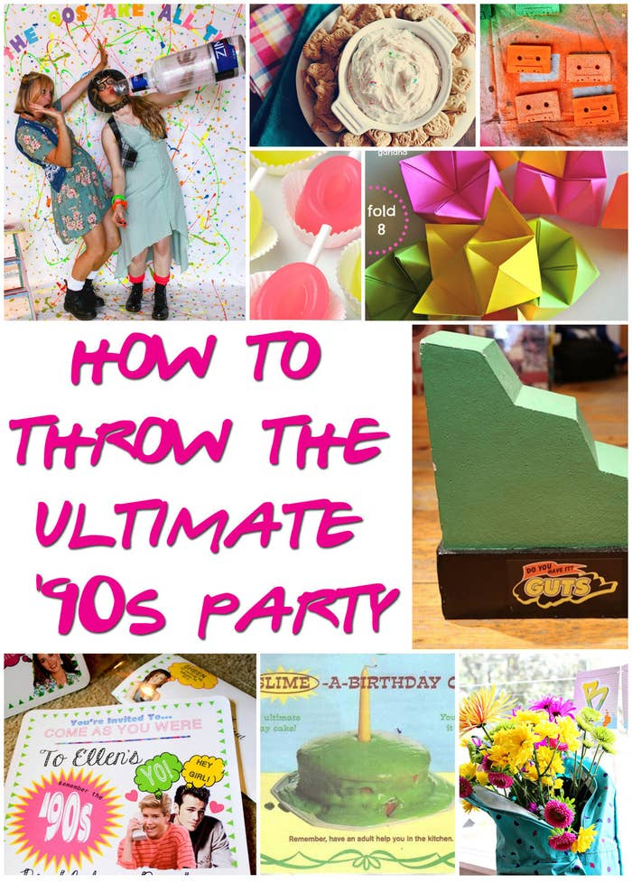 29 Essentials For Throwing A Totally Awesome 90s Party