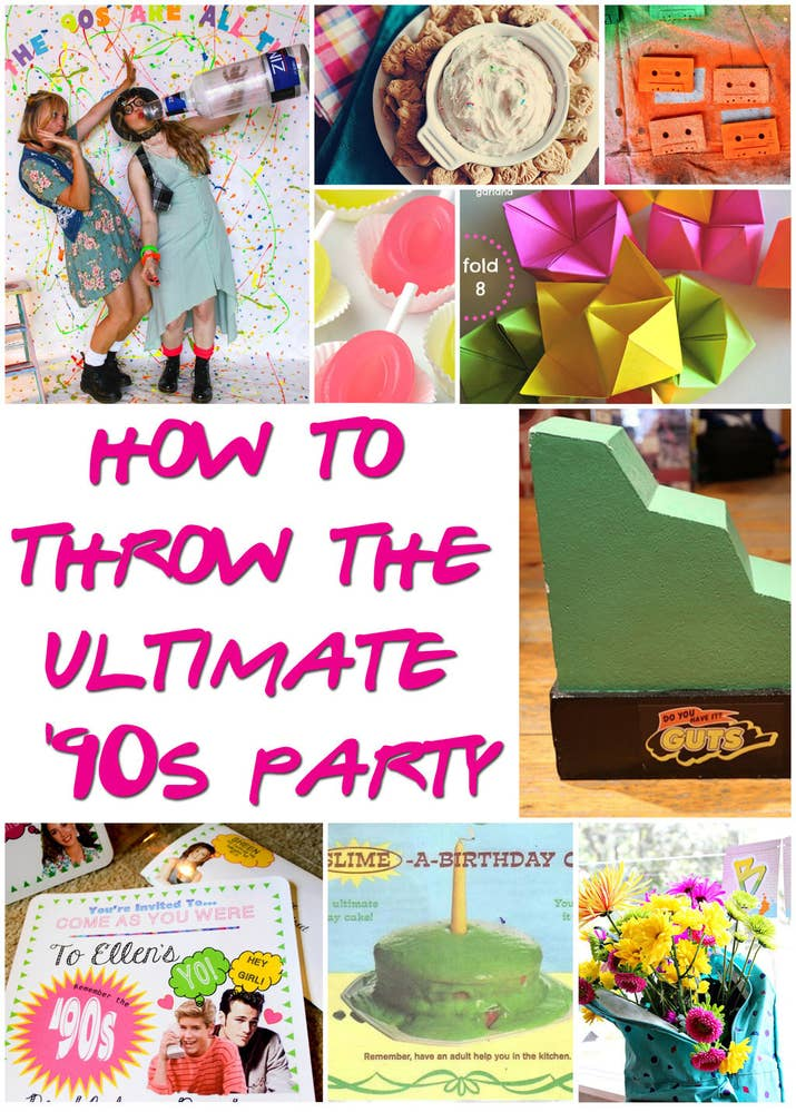 29 Essentials For Throwing A Totally Awesome \'90s Party