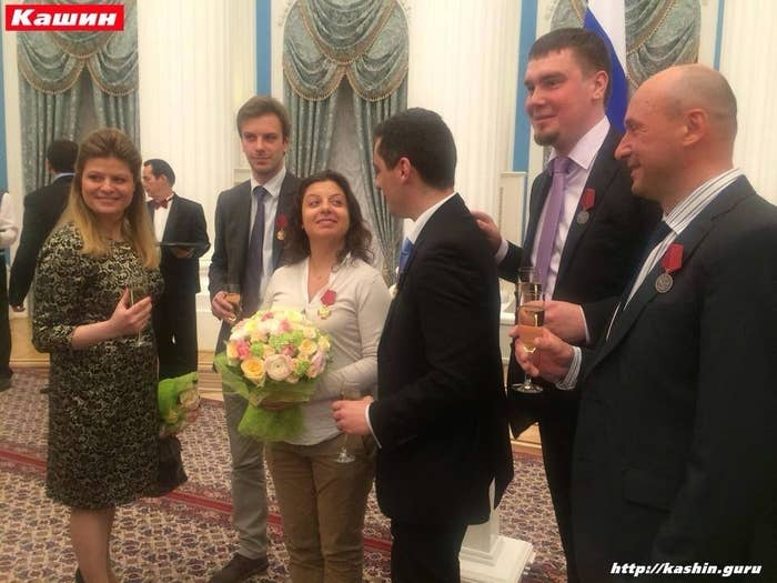 Russia Today editor Margarita Simonyan was among the journalists whom Putin gave awards for their favorable coverage of the Crimean crisis.