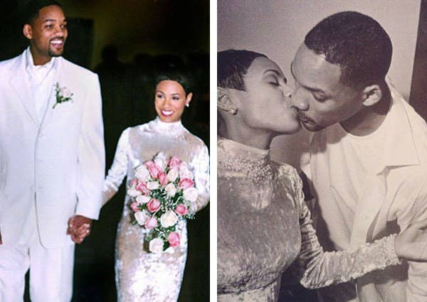 Jada Pinkett Smith The Multi Hyphenate Wore A Crushed Velvet Badgley Mischka Gown When She Married Will