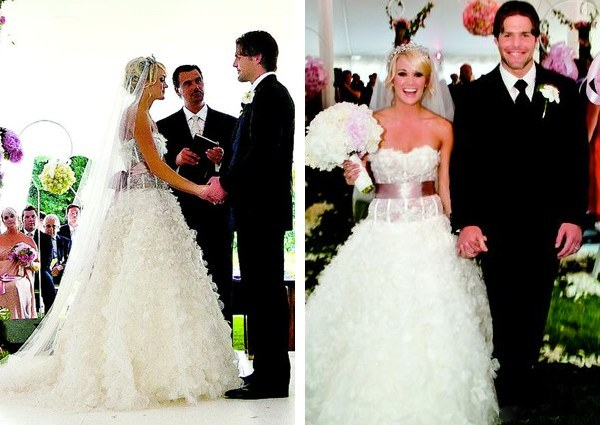 Carrie underwood wedding pictures dresses