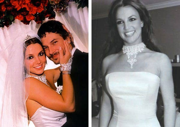 a75e483d77a28 The queen of pop wore a custom Vera Wang creation when she married dancer  Kevin Federline
