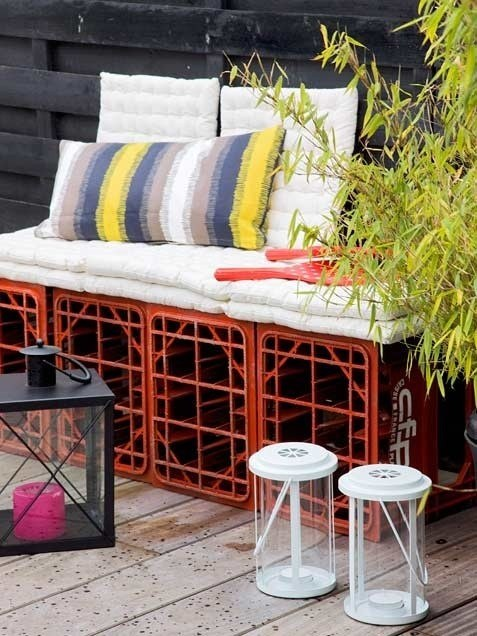26. This Cool Metal Crate Bench