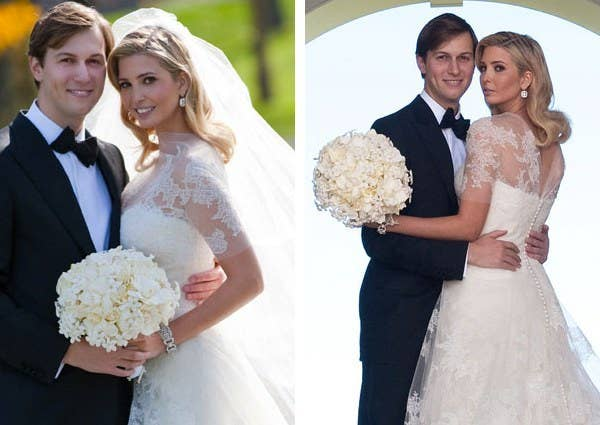 43ae3a3ab0d98 Donald Trump's daughter wore Grace Kelly-inspired Vera Wang gown when