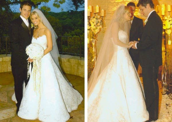 23591dcb05a8 Jessica Simpson. The singer may have regrets about her marriage to Nick  Lachey but this stunning Vera Wang