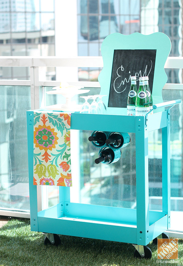 This Awesome Outdoor Bar Cart