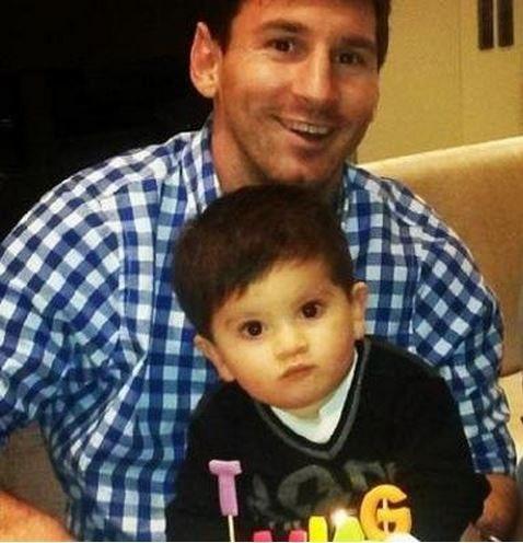 عکس مسی پسرش