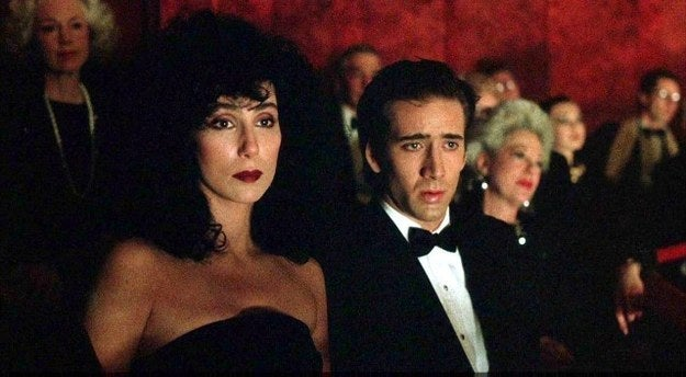 "Selling points: Cher and Olympia Dukakis kill it in their respective roles. There's a young Nicolas Cage, which is always good. Oh, and it was nominated for six Oscars.Classic scene: ""Snap out of it!""Classic quote: ""Aw ma, I love him awful."" ""Oh, God, that's too bad.""Cool fact: The movie was originally called The Bride And The Wolf. Just doesn't have the same ring as Moonstruck."