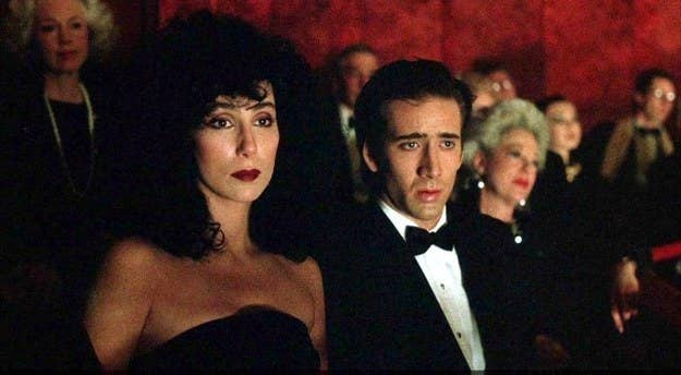 """Selling points: Cher and Olympia Dukakis kill it in their respective roles. There's a young Nicolas Cage, which is always good. Oh, and it was nominated for six Oscars.Classic scene: """"Snap out of it!""""Classic quote: """"Aw ma, I love him awful."""" """"Oh, God, that's too bad.""""Cool fact: The movie was originally called The Bride And The Wolf. Just doesn't have the same ring as Moonstruck."""