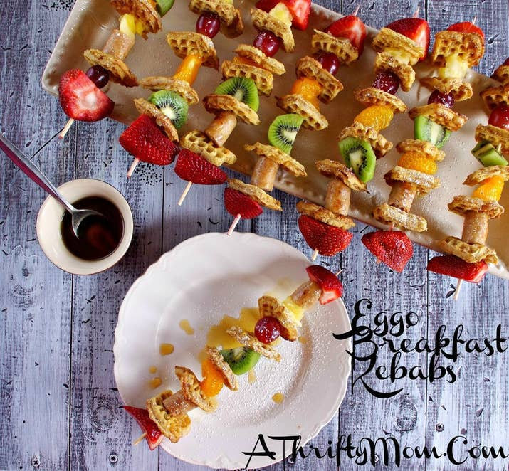 31 foods on a stick that are borderline genius 1 eggo breakfast kebabs forumfinder Gallery