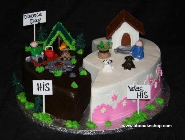 Pastel de divorcio con separación de bienes