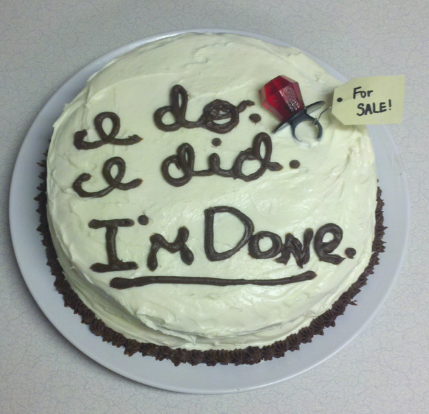 Have a divorce party, eat some cake