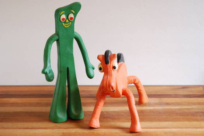 During The 1980s Gumby Had A Huge Revival And This Stretchy Posable Figure Was