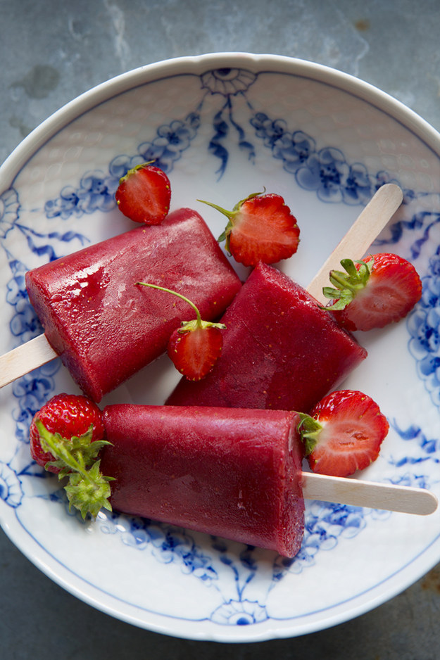 Strawberry, Hibiscus, and Watermelon Ice Pops