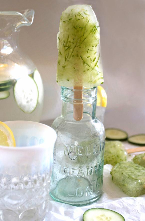 Lemonade Cucumber Spa Popsicles