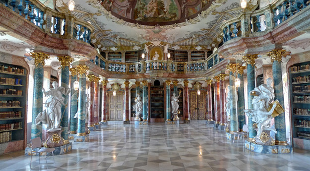 Roaming the halls of the gorgeous Wiblingen Abbey library near Ulm, Germany.