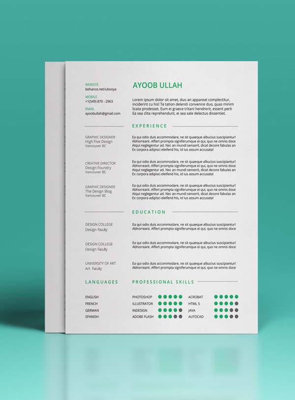 Get The Free Template Here.  Unique Resume Ideas