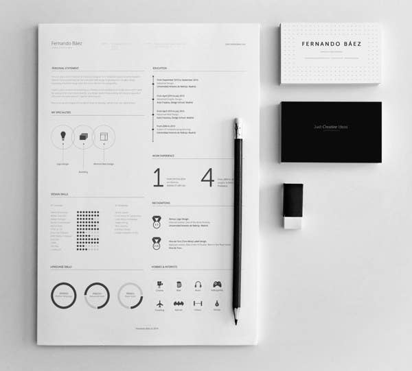 there is a free rsum template here - Minimalist Resume Template