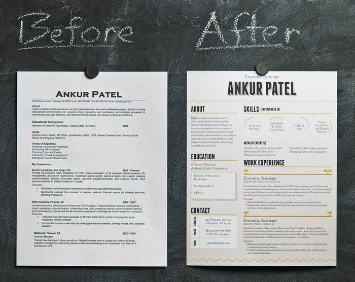 See What A Difference Well Designed Resume Makes