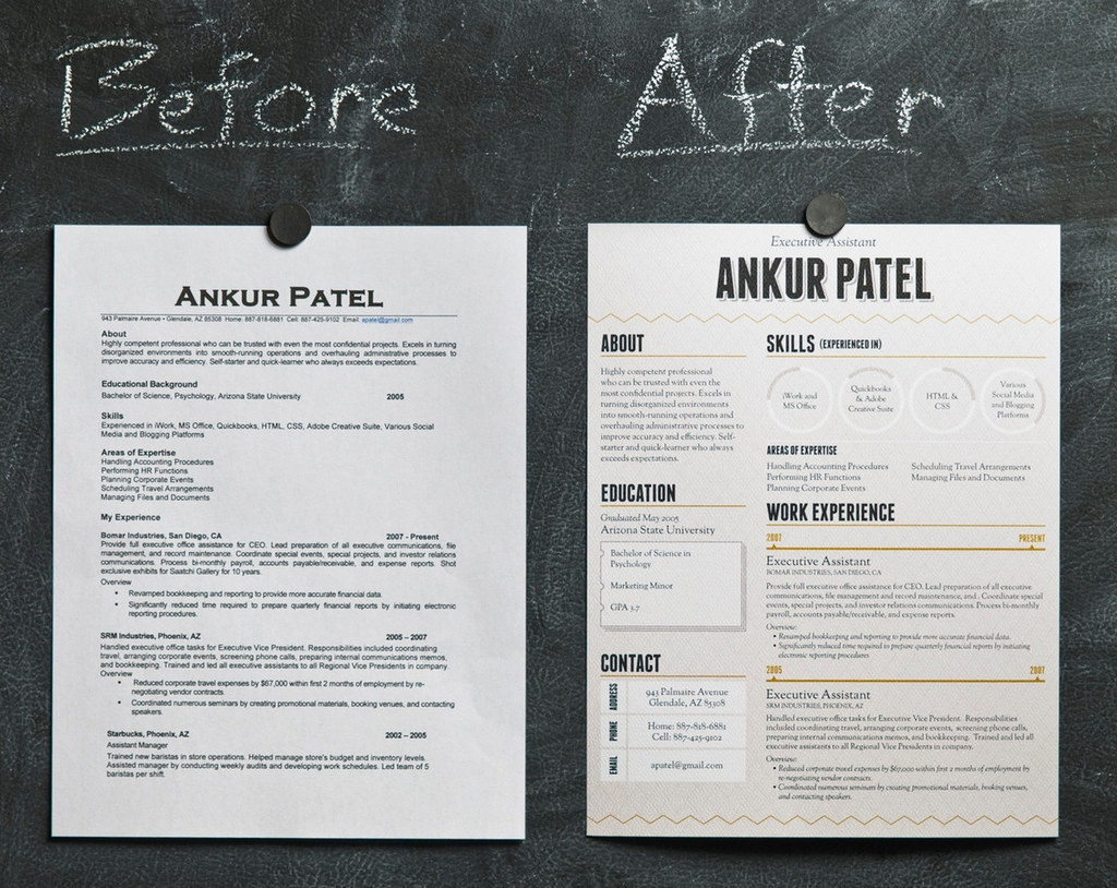 Beautiful See What A Difference A Well Designed Résumé Makes? Throughout Awesome Resumes
