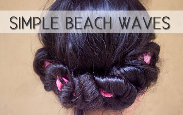 Create beach waves with a headband.