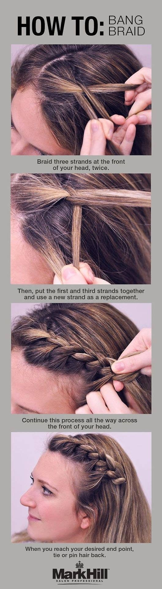 18 ingenious hair hacks for the gym the bang braid is your solution to keeping annoying mid level bangs off your face solutioingenieria Image collections