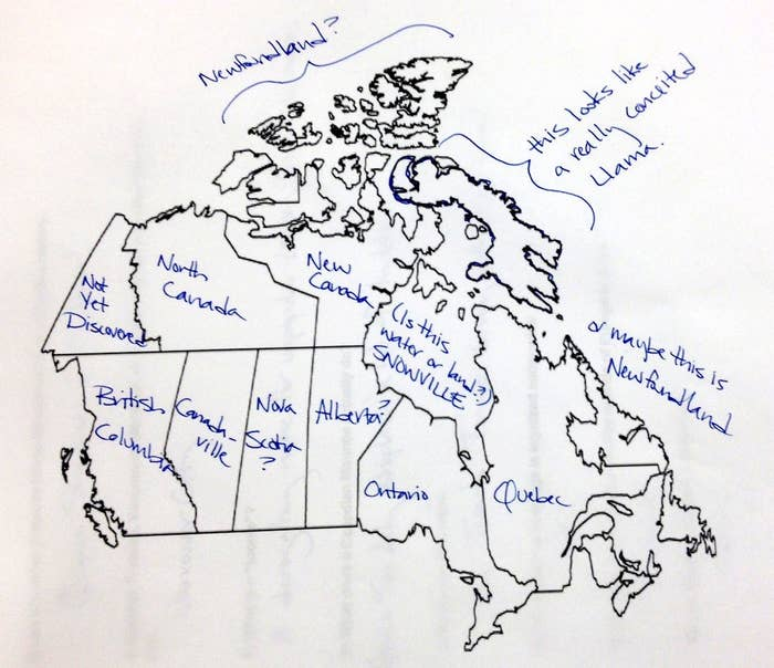 Map Of Canada Not Labeled.Here S What Happens When Americans Try To Label The Country Of Canada