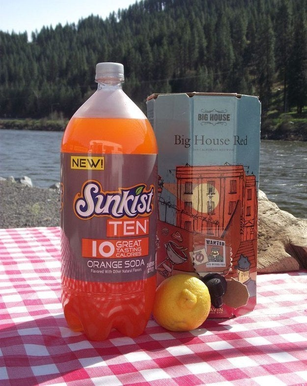 When camping, there's never a wrong time for boxed wine. Instructions here.