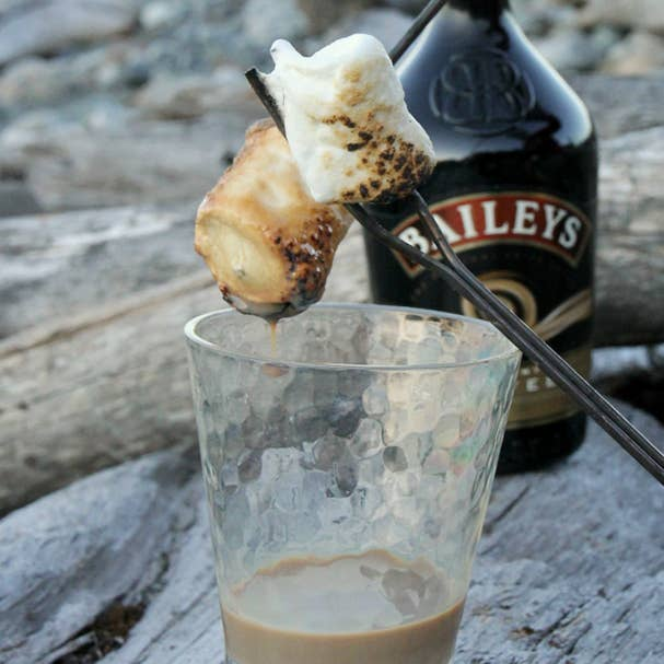 The only thing better than s'mores? S'mores spiked with Baileys. Get the instructions.