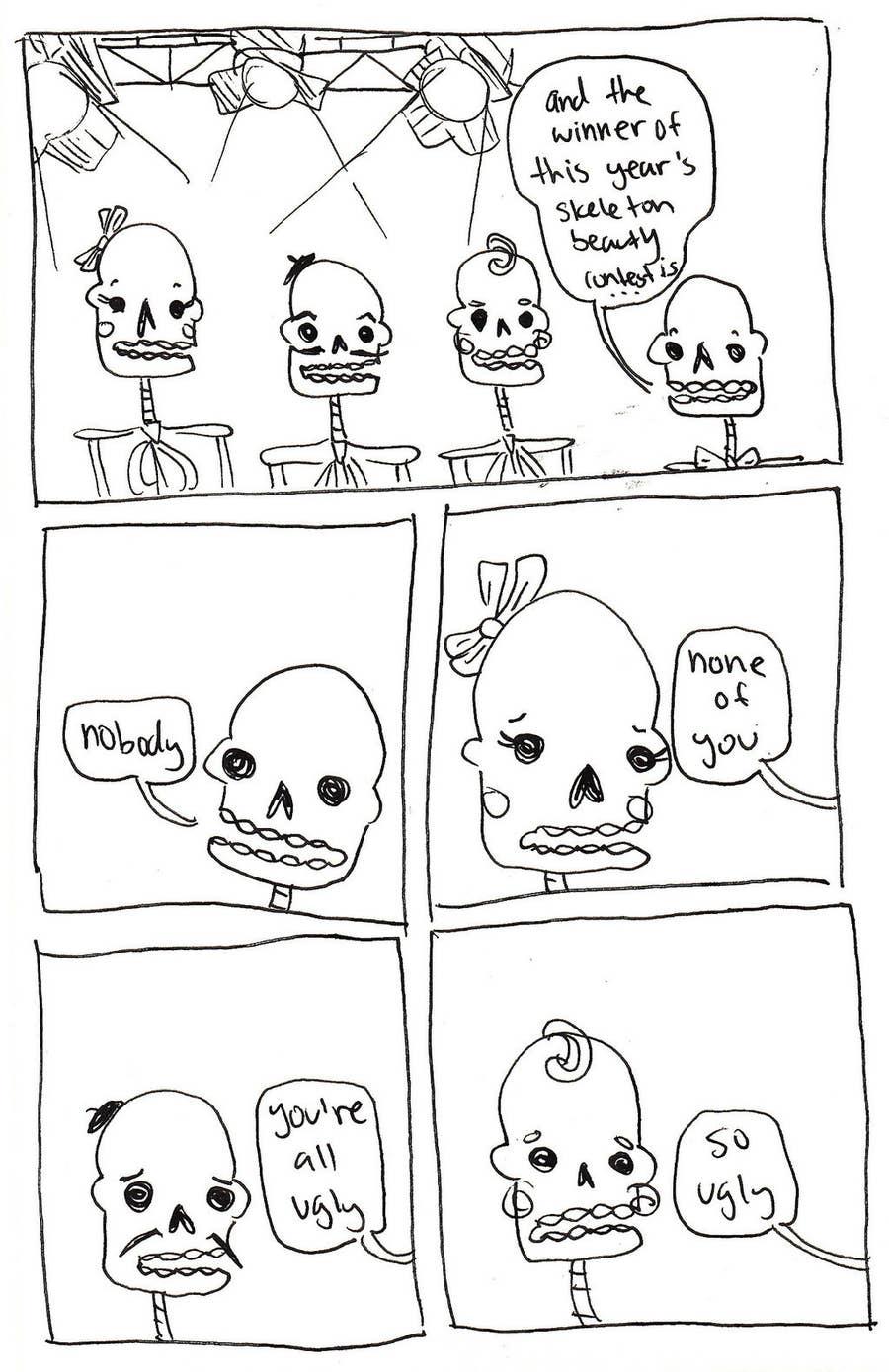 The skeleton beauty contest won who Mrs. Jones