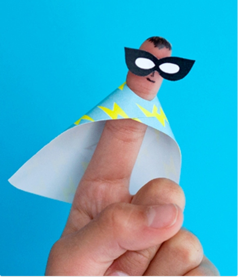 Learn how to make DIY superhero finger puppets here.