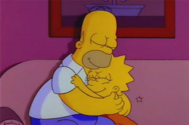 Image result for simpsons hugging kids