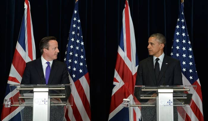 """Barack Obama urged Scots to reject independence, saying the US would prefer to retain a """"strong, robust, united"""" ally.""""The United Kingdom has been an extraordinary partner to us,"""" he said on Thursday afternoon in response to a question on Scotland's forthcoming independence referendum. """"From the outside at least, it looks like things have worked pretty well.""""And we obviously have a deep interest in making sure that one of the closest allies we will ever have remains a strong, robust, united and effective partner.""""Obama stressed that Britain has been a close ally to the US for many years and hinted he has a vested interest in the outcome of the referendum.But Obama said it was up to the people of Scotland to have the final say, despite calling for Britain to remain united.""""Ultimately these are decisions that are to be made by the folks there,"""" he said.The comments were made in a joint press conference hosted by Obama and Prime Minister David Cameron at the G7 summit in Brussels. Scottish residents will vote on whether Scotland should become independent from the United Kingdom in September.Pro-union campaigners immediately seized on Obama's endorsement, tweeting anti-independence takes of Obama's iconic campaign posters."""