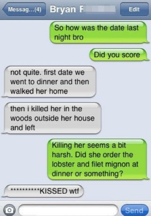 First dates are killer.