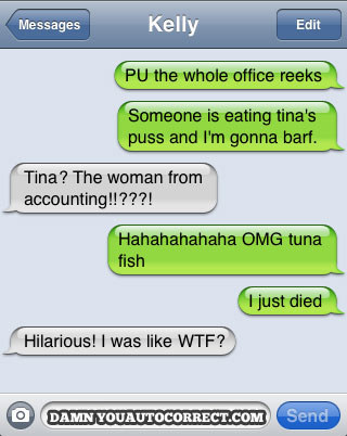 You can always count on Tina.