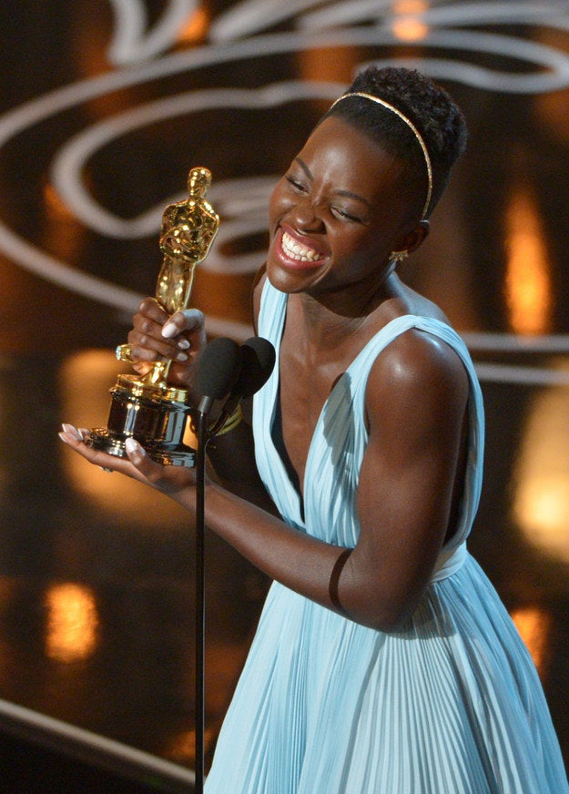 A year ago, no one had even heard of her. Today, 31-year-old Nyong'o has an Academy Award for her unforgettable debut performance in 12 Years a Slave. And she's on the cover of Vogue and People, as the latter's Most Beautiful Person of the Year. And she's developing Chimamanda Ngozi Adichie's acclaimed novel Americanah into a feature film. And she's signed with Lancome as the cosmetic giant's first black spokeswoman. And she's become a fashion icon. And one of her next big roles will be in Star Wars: Episode VII. It's worth noting that all of that happened within the last six months.It's a lot, especially to start a career, and especially all at once. Yet, there is the distinct impression — or, simply, hope — that Nyong'o's best days are ahead of her. What's next? Nyong'o's career is so brand new that she won't be in another film until 2015 — she'll also star along with Jake Gyllenhaal, Rachel McAdams, and Forest Whitaker in the boxing drama Southpaw from director Antoine Fuqua.