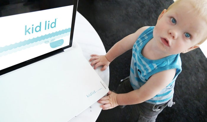 This simple yet ingenious product covers a computer keyboard so kids can't bang on or pull off the keys. Get one now with a $20 donation to the company's Kickstarter page.