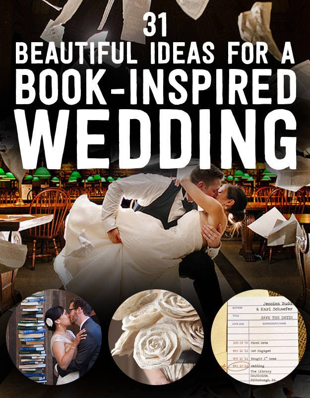 31 Beautiful Ideas For A Book Inspired Wedding