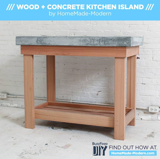 How To Make A DIY Kitchen Island With A Concrete Countertop - Making a kitchen island